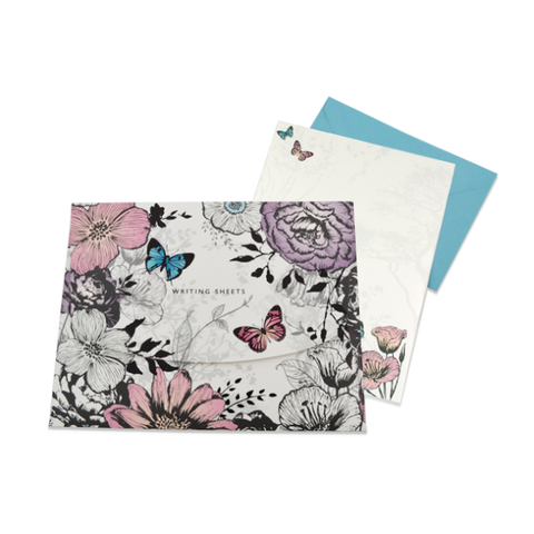 Butterflies,&,Flowers,Enchanted,Woodland,Writing,Set,buy luxury stationery online, buy luxury note cards online, buy butterflies writing set online, buy butterflies stationery online, buy butterfly stationery online, buy butterfly writing set online, buy butterfly writing paper online, buy flowers writing s