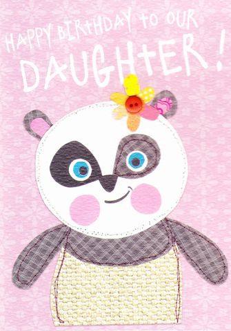 To,Our,Daughter,Birthday,Card,buy daughter birthday card online, buy birthday cards for daughters online, young daughter birthday cards, to our daughter birthday cards buy online, panda birthday cards, panda birthday cards for daughters,