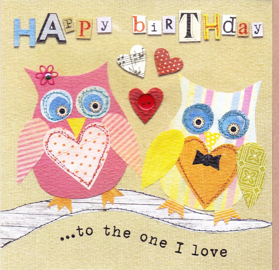 To The One I Love Owls Birthday Card Karenza Paperie – Fiancee Birthday Card