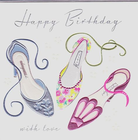 Shoes,With,Love,Birthday,Card,buy shoes birthday cards for her online, buy female birthday cards with shoes online, heels birthday card, stiletto birthday cards, birthday cards for her, buy fashion birrhday cards for her online