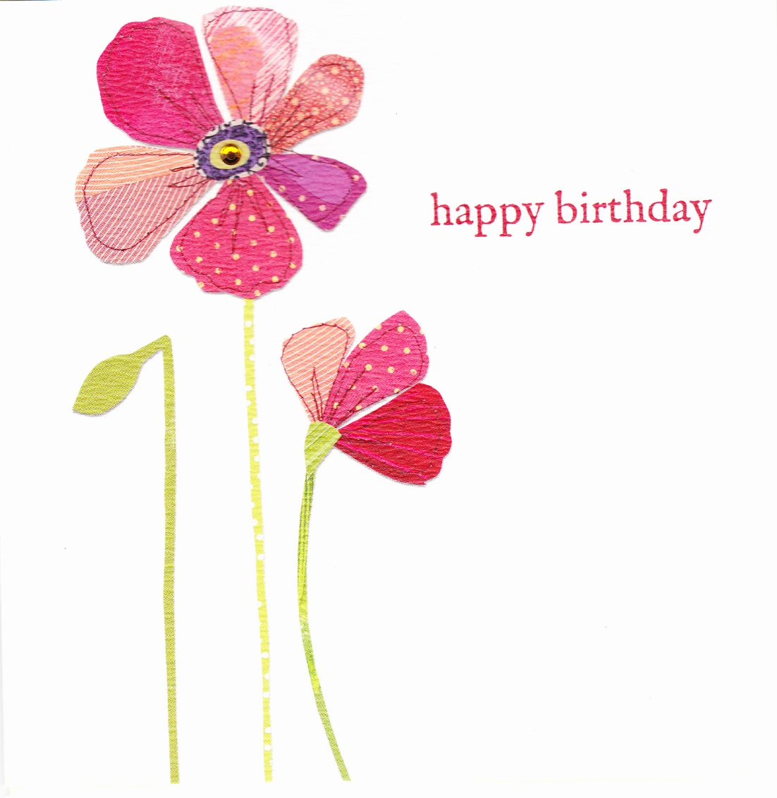 buy red poppies birthday cards for her online karenza paperie