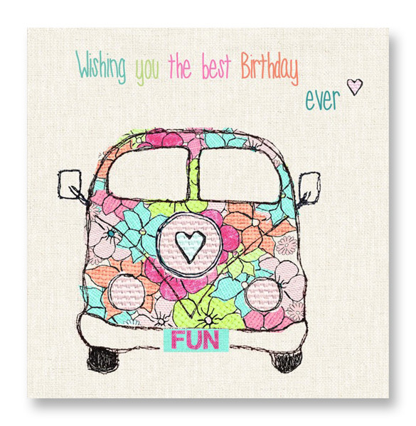 summer birthday cards with camper vans buy online at karenza paperie
