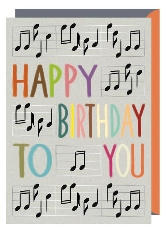 Musical Notes Happy Birthday To You Birthday Card Karenza Paperie – Where Can I Buy Birthday Cards