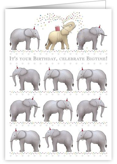 Birthday Elephants Card