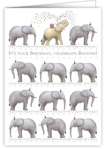 Birthday,Elephants,Card,buy elephant birthday cards online, buy birthday cards with elephants online, celebrate big time birthday cards, birthday cards for him with elephants, birthday cards for her with animals, elephant birthday cards