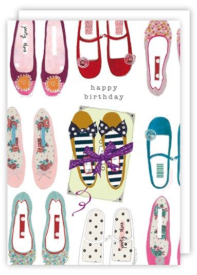 Shoes Happy Birthday Card Karenza Paperie