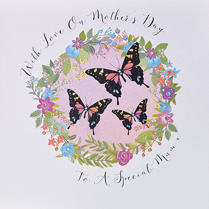 To,A,Special,Mum,Card,-,Large,Luxury,Mother's,Day,buy mothers day card online, buy mother's day card for mum online, buy special mum mothering sunday card online, butterfly mothers day card for mum, buy mothers day cards with butterflies online, buy large mothers day card online, buy luxury mothers day c