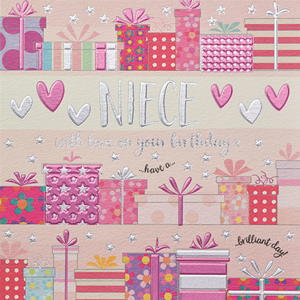 Niece With Love On Your Birthday Card Karenza Paperie