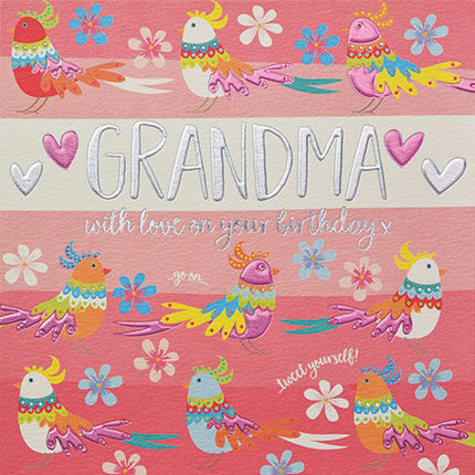 Grandma With Love On Your Birthday Card Karenza Paperie