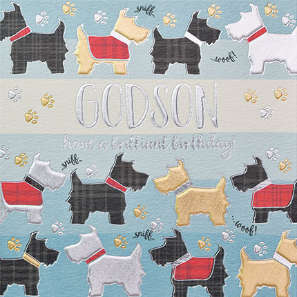 Scottish welsh cards collection karenza paperie godson dogs birthday card m4hsunfo