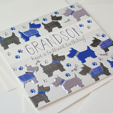 Grandson dogs birthday card karenza paperie grandson dogs birthday card product images of bookmarktalkfo Image collections