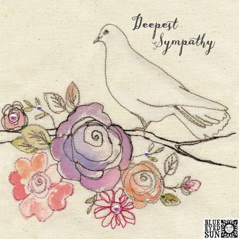 Dove,&,Flowers,Sympathy,Card,buy with sympathy card onine, buy card for bereavement online, buy deepest sympathy card online, card for sympathy, dove sympathy card, floral with deepest sympathy card, deepest condolences card