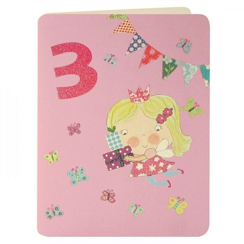 Fairy,&,Butterflies,Age,3,Birthday,Card,buy 3rd birthday card online, buy little girls age 3 birthday card online, buy girls 3rd birthday card online, buy girls age three birthday card online, fairy birthday cards, age 3 birthday cards, childrens birthday cards