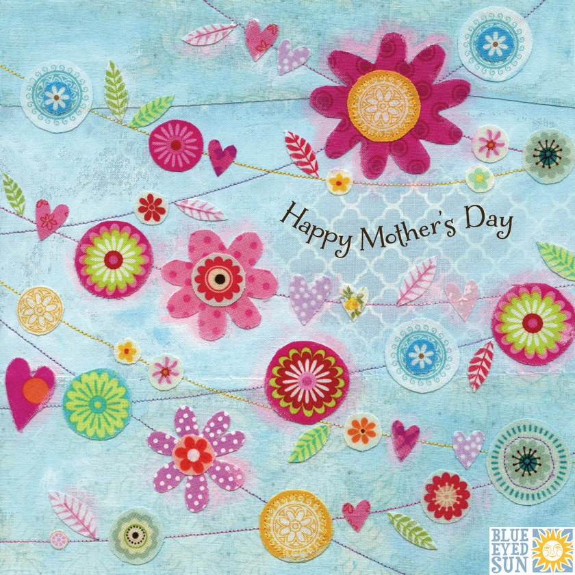buy mothers day cards online with flowers bunting from karenza paperie