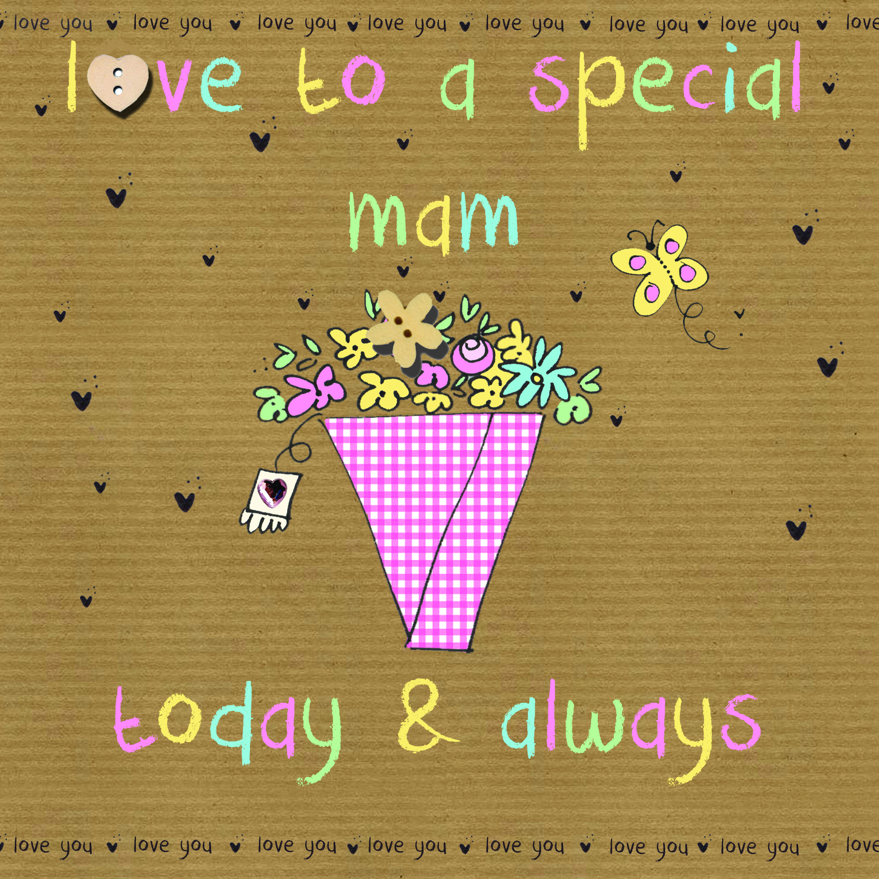 buy mam mothers day cards online with flowers butterfly