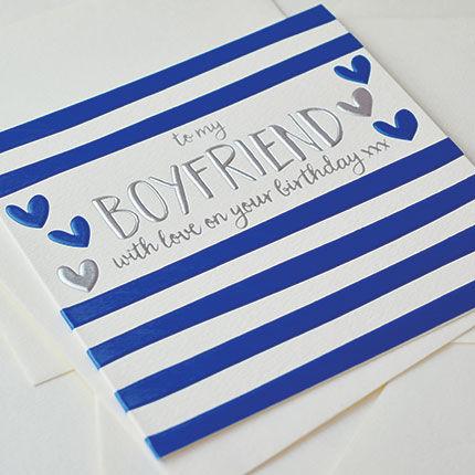 To My Boyfriend Birthday Card