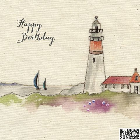 Lighthouse,&,Boats,Birthday,Card,buy male birthday card online, buy birthday cards for him online, buy lighthouse birthday cards online, birthday cards with lighthouses, buy sailing birthday cards for him, buy birthday cards with boats online