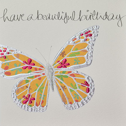 Hand,Finished,Butterfly,Birthday,Card,buy birthday cards for her online, buy beautiful birthday cards for her online, buy female birthday cards with butterfly online, butterflies birthday cards. birthday card for her, female birthday card, ladies birthday card, girls birthday card, butterfly