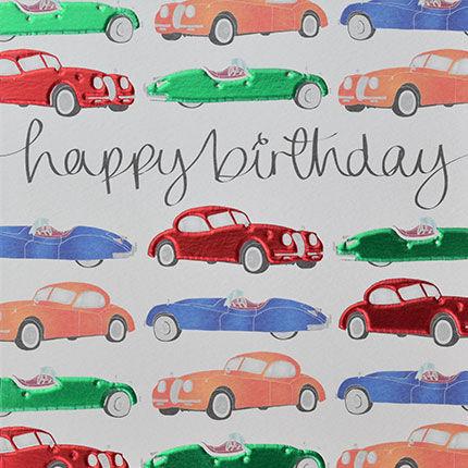 Vintage Cars Birthday Card Karenza Paperie