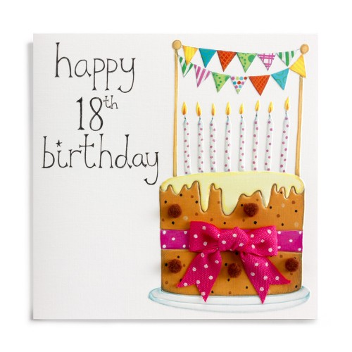 buy 18th birthday cards online for her from karenza paperie age 18 eighteen eighteenth