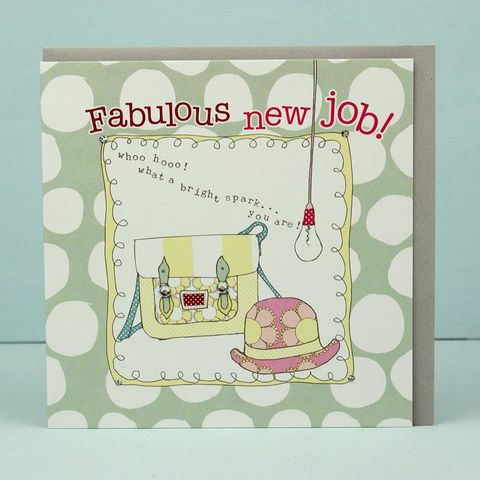 Bright,Spark,New,Job,Card,buy congratulations on your new job cards online, well done on your job card, good luck in your new job card for her, buy new job cards online, buy congratulations well done cards online