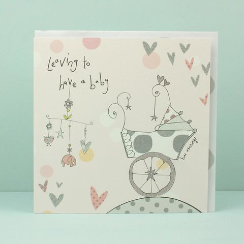Hand,Finished,Leaving,To,Have,A,Baby,Card,buy leaving to have a baby card online, cards for leaving to have a baby, buy mum to be card online, mum-to-be card, card for expectant mum, baby shower card, cards for baby showers, parents to be card