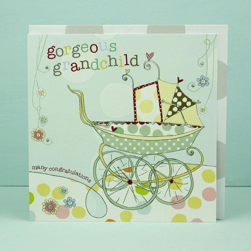 new baby grandchild card grandparents congratulations card