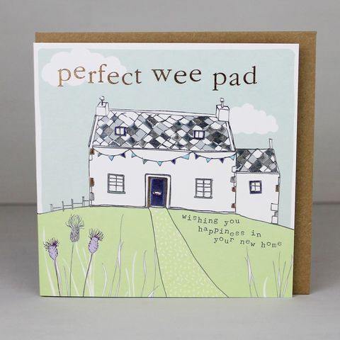 Perfect,Wee,Pad,New,Home,Card,buy perfect wee pad new home card online, buy cards for new homes online, buy scottish cards online, buy congratulations on your new home card online