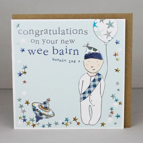 Congratulations,On,Your,New,Wee,Bairn,Card,-,Baby,Boy,buy new wee bairn card online, buy baby boy cards online, buy scottish new baby cards online, buy cards for new arrivals online, buy cards for new baby boys online,