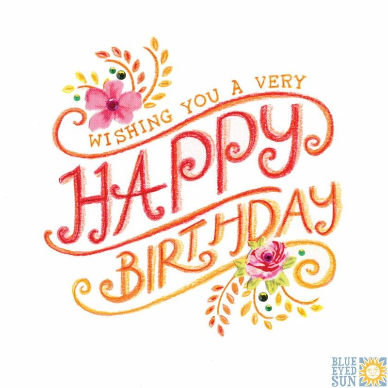 Wishing You A Very Happy Birthday Birthday Card Karenza Paperie