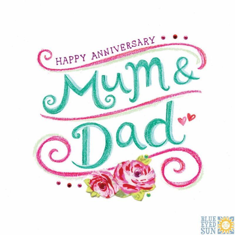 Happy Anniversary Mum Dad Wedding Anniversary Card Karenza Paperie