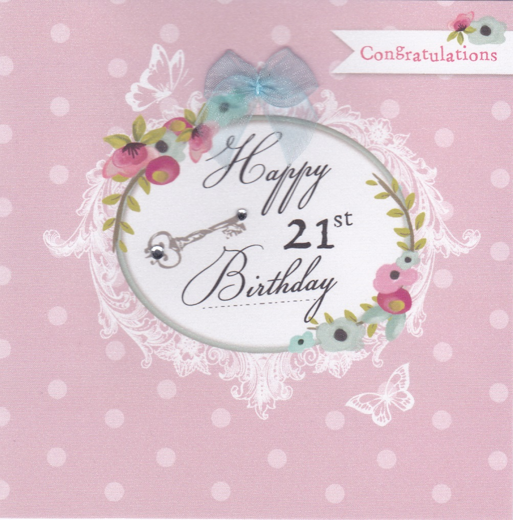 buy 21st birthday cards online for her girls female age twenty one twenty first birthday cards