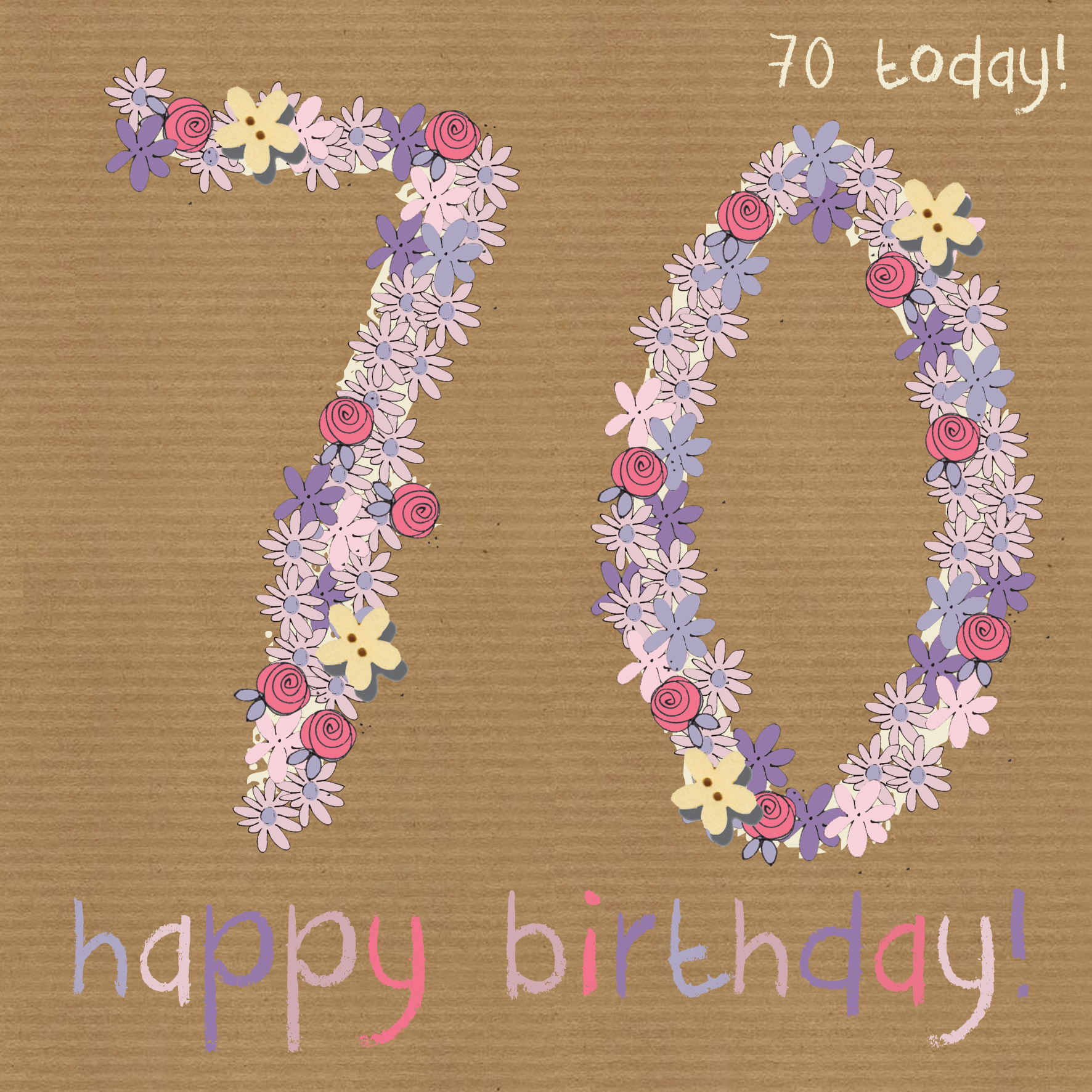 buy 70th birthday cards online for her from karenza paperie age seventy seventieth 70 birthday cards