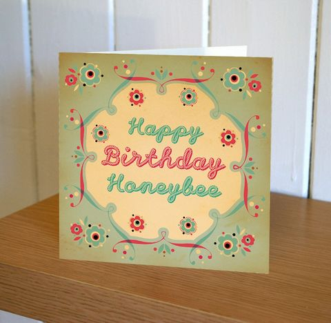 Honeybee,Happy,Birthday,Card,buy birthday cards for her online, buy honeybee birthday cards online, buy female birthday cards online, buy bee birthday cards online, buy cottonwood pennychoo cards online, buy male birthday cards online