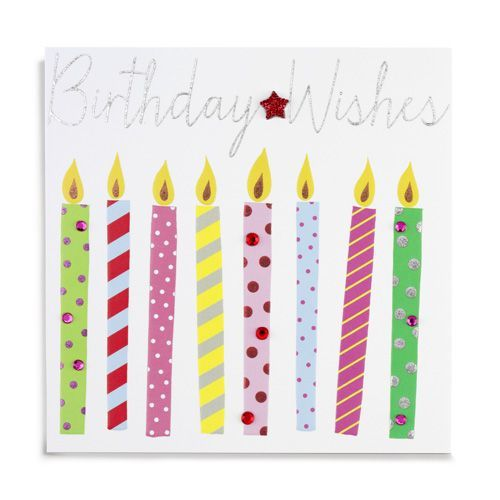 Handmade Birthday Wishes Candles Card