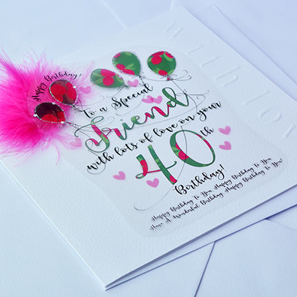 Handmade Friend 40th Birthday Card