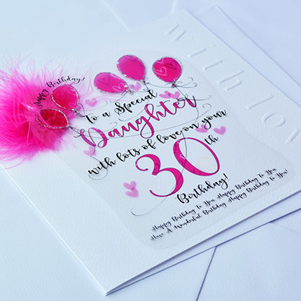 Handmade daughter 30th birthday card large luxury birthday card handmade daughter 30th birthday card large luxury birthday card product images of bookmarktalkfo Images