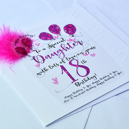 Handmade Daughter 18th Birthday Card Large Luxury Birthday Card