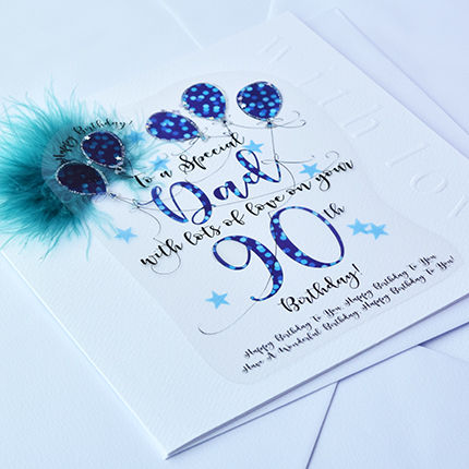 Handmade Dad 90th Birthday Card