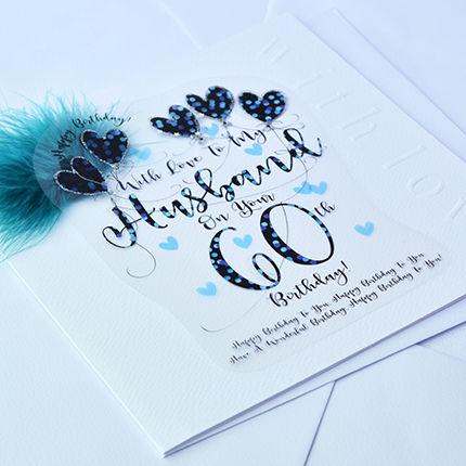 Handmade Husband 60th Birthday Card