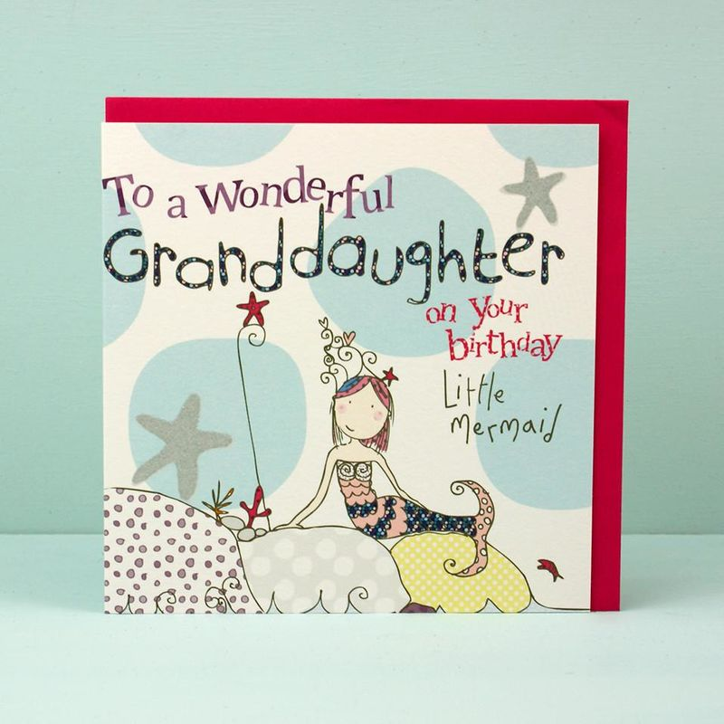 Granddaughter mermaid birthday card karenza paperie bookmarktalkfo