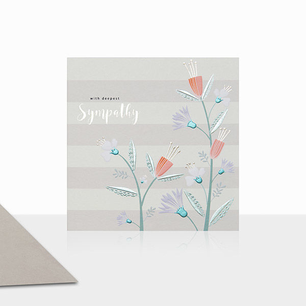 with deepest sympathy floral sympathy card product images - Deepest Sympathy Card