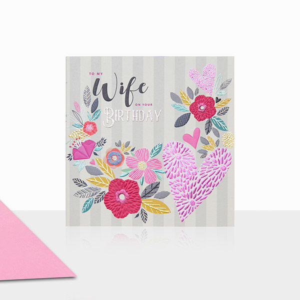 To my wife on your birthday card karenza paperie to my wife on your birthday card product images bookmarktalkfo Choice Image
