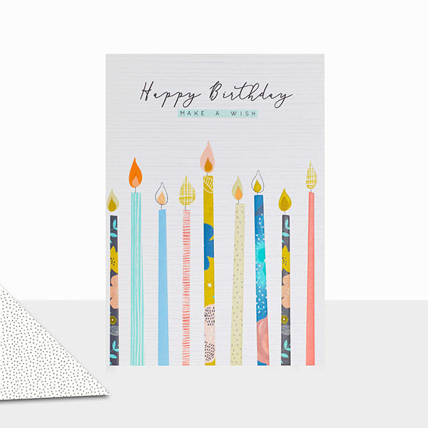 Candles Make A Wish Birthday Card
