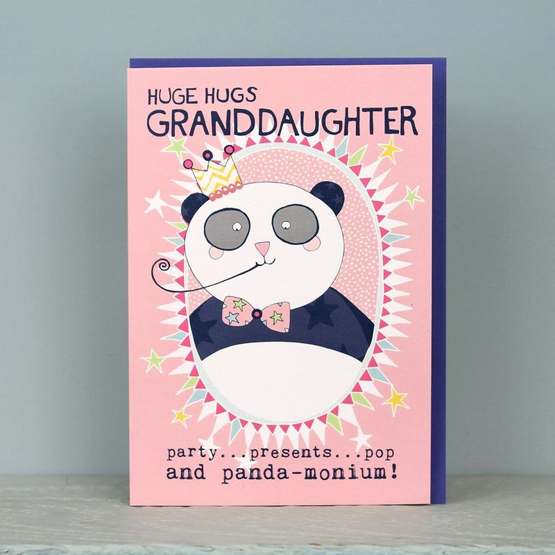 Panda Granddaughter Birthday Card