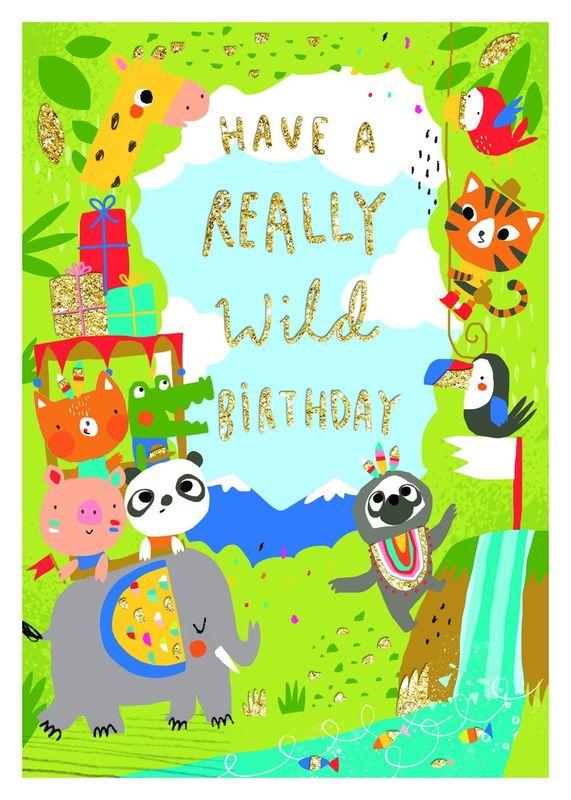 Really Wild Jungle Animal Birthday Card Karenza Paperie