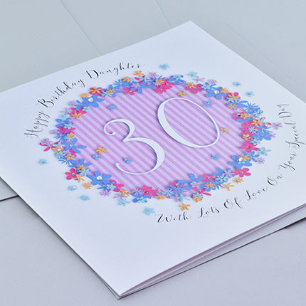 Floral Daughter 30th Birthday Card