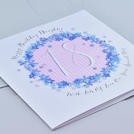 Floral Daughter 18th Birthday Card