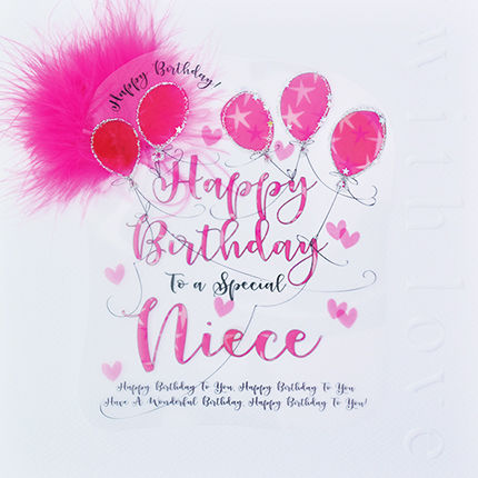 Handmade Niece Birthday Card Large Luxury Birthday Card Karenza