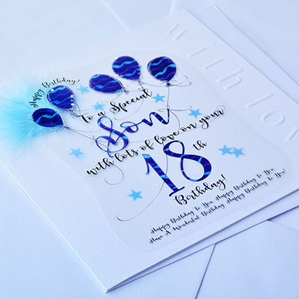 Handmade Son 18th Birthday Card